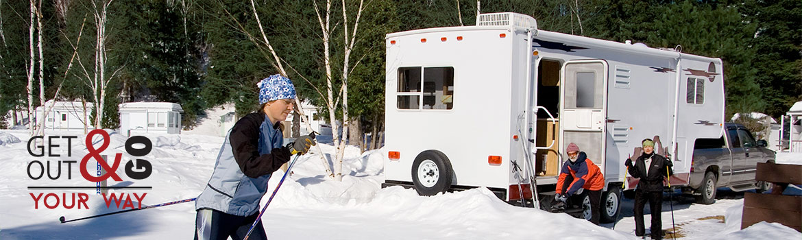 Fifth Wheel RV at a Ski Area