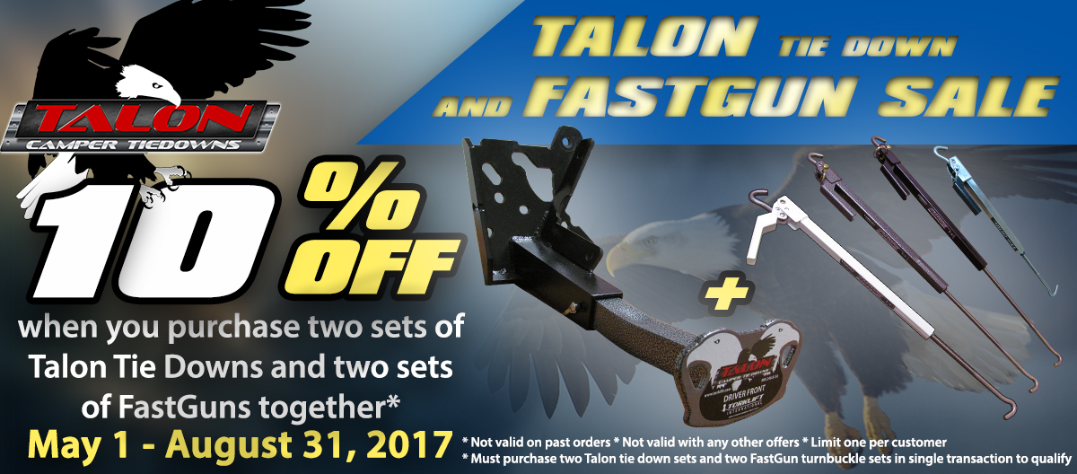 Talon Tie Down Sale
