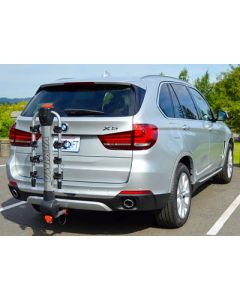 BMW X5 with EcoHitch and Bike Rack