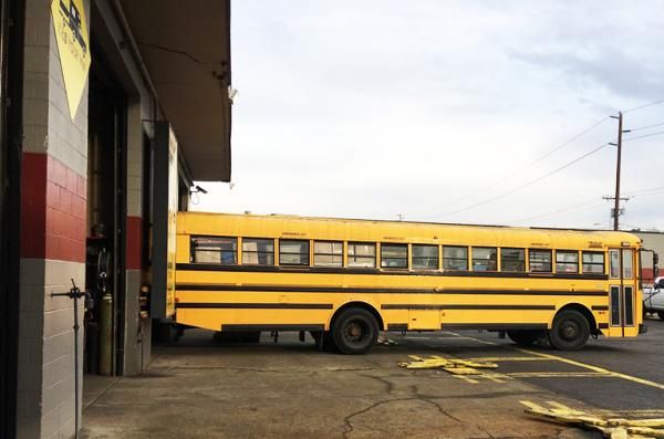 We install custom trailer hitches - even on a bus!