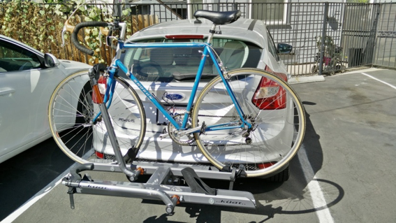 EcoHitch and Kuat Sherpa bike rack: a winning combination for the 2014 Ford Focus Electric