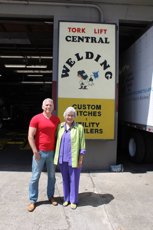 Owner Jack Kay and Mayor Suzette Cooke visit Torklift Central for the 40th Anniversary