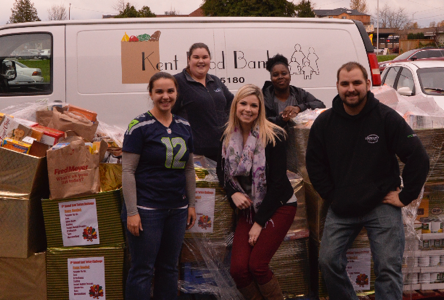 Dropping off food from the  6th Annual Kent Turkey Challenge